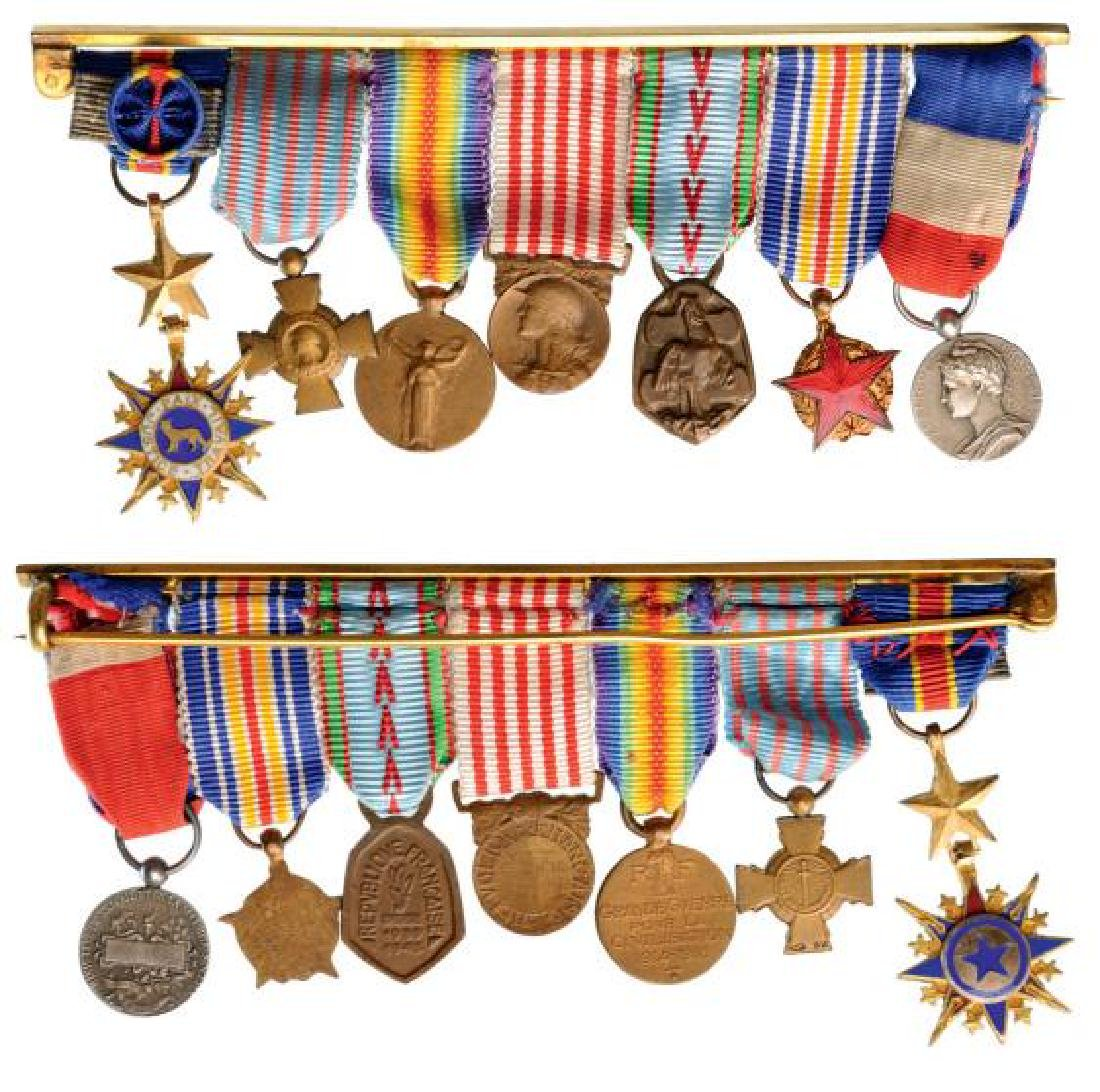 Medal Bar with 7 Decorations
