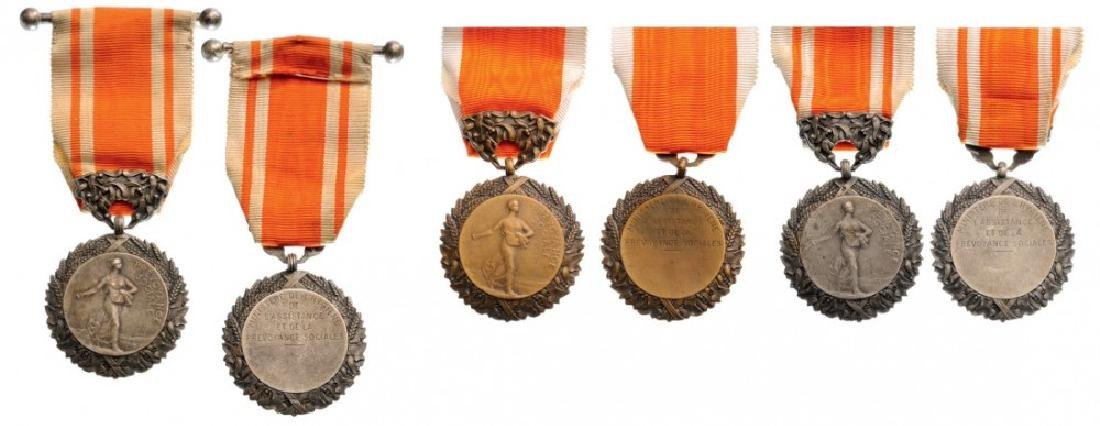 Lot of 3 Social Foresight Honor Medals