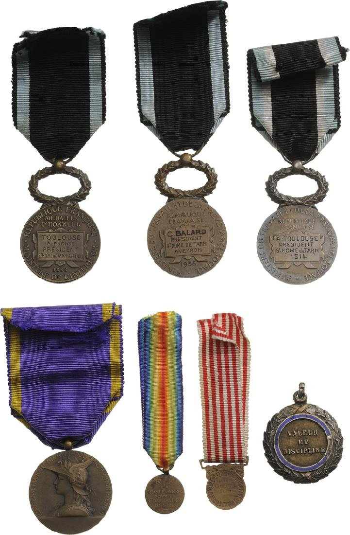 Personnal group of 11 Medals of a Veteran of WWI - 6