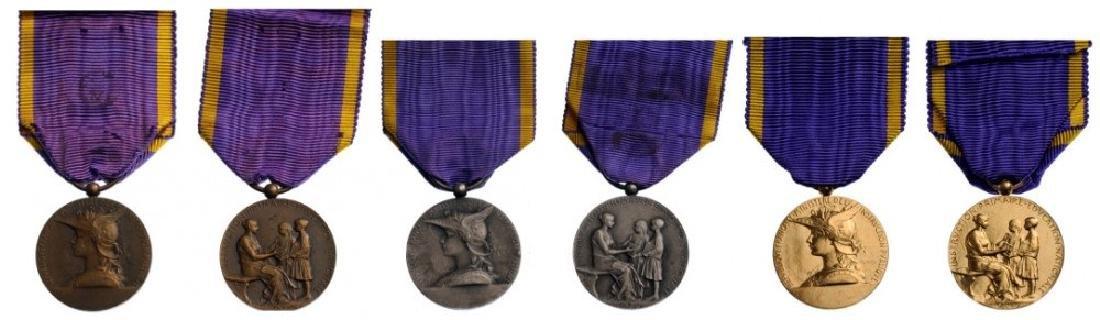 Lot of 3 Teachers Medal Set