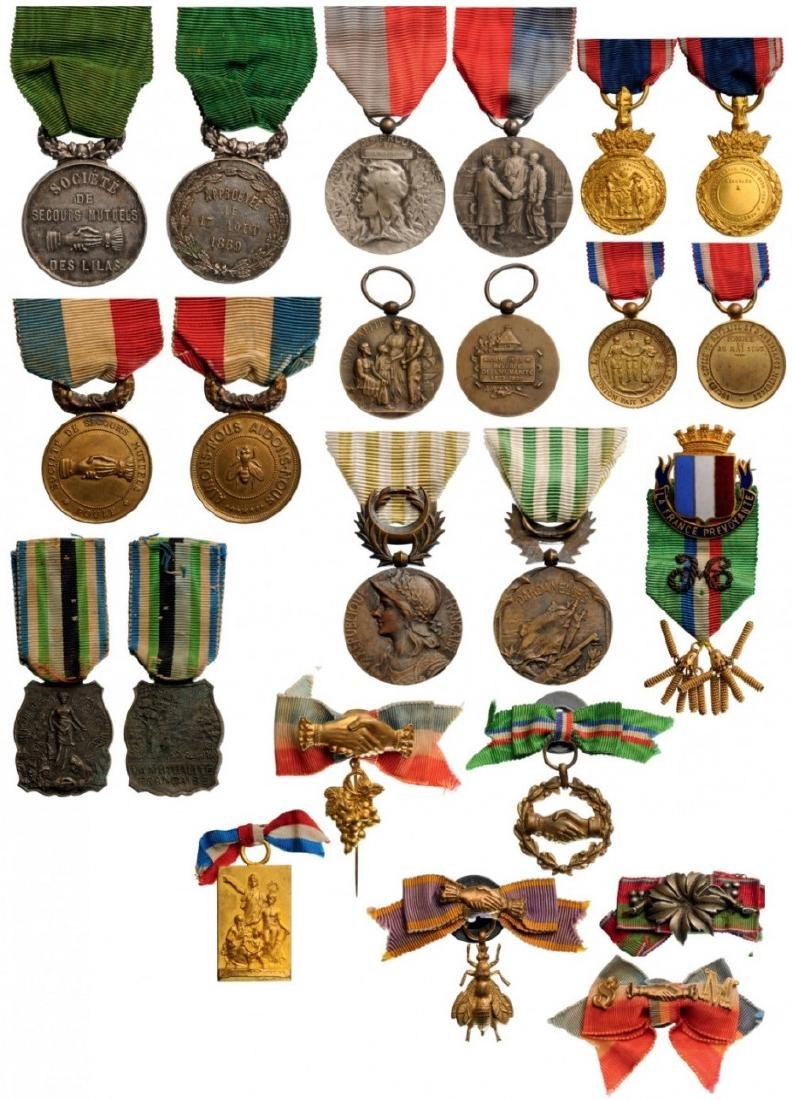 Lot of 14 Medals of various Mutual Help Societies,