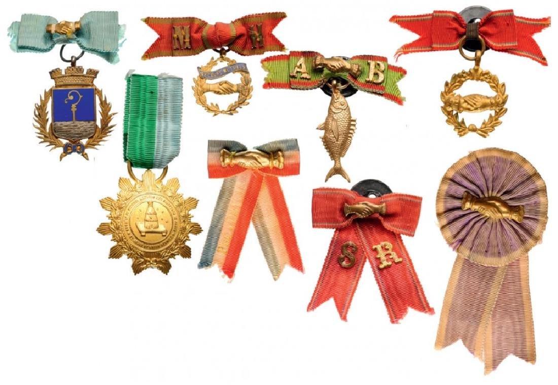Lot of 8 Medals of various Mutual Help Societies,