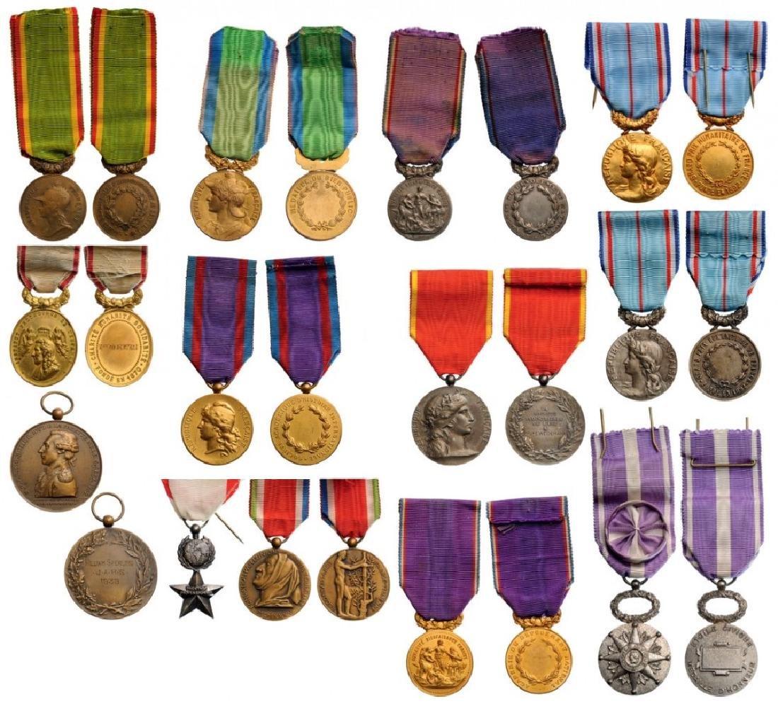 Lot of 13 Medals of various Philanthropic Societies,