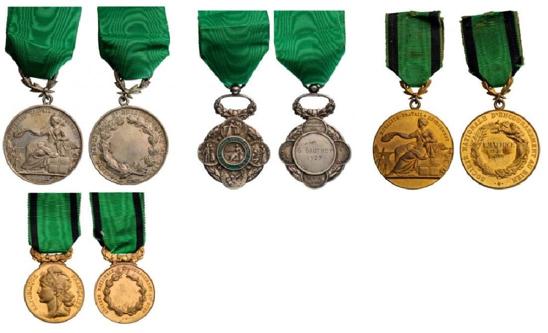 Lot of 4 Medals of the Society for the Promotion of