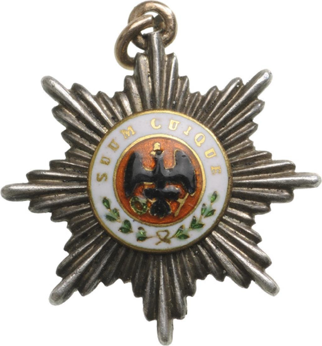 ORDER OF THE BLACK EAGLE, instituted in 1701
