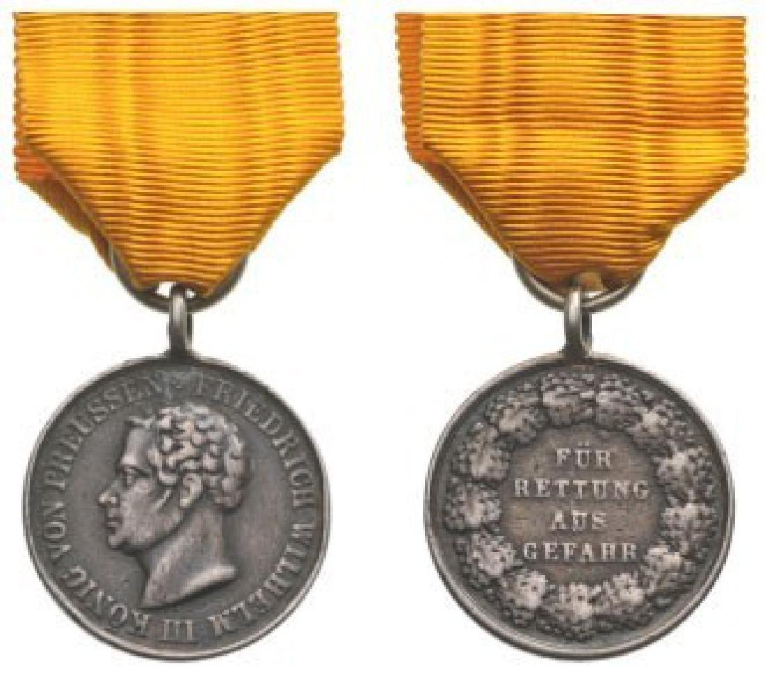 King Friedrich Wilhelm III, Silver Lifesaving Medal