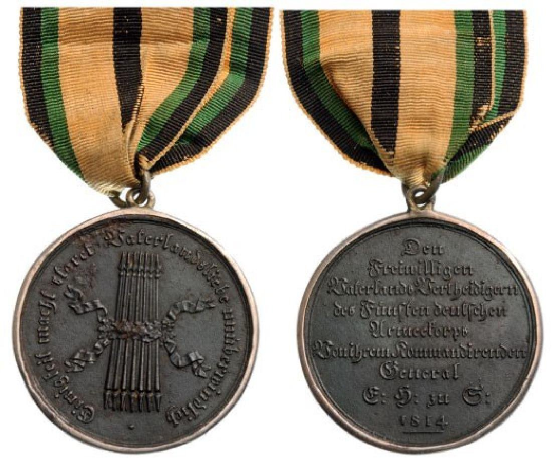 5TH ARMY CORPS VOLUNTEERS MEDAL, INSTITUTED IN 1814