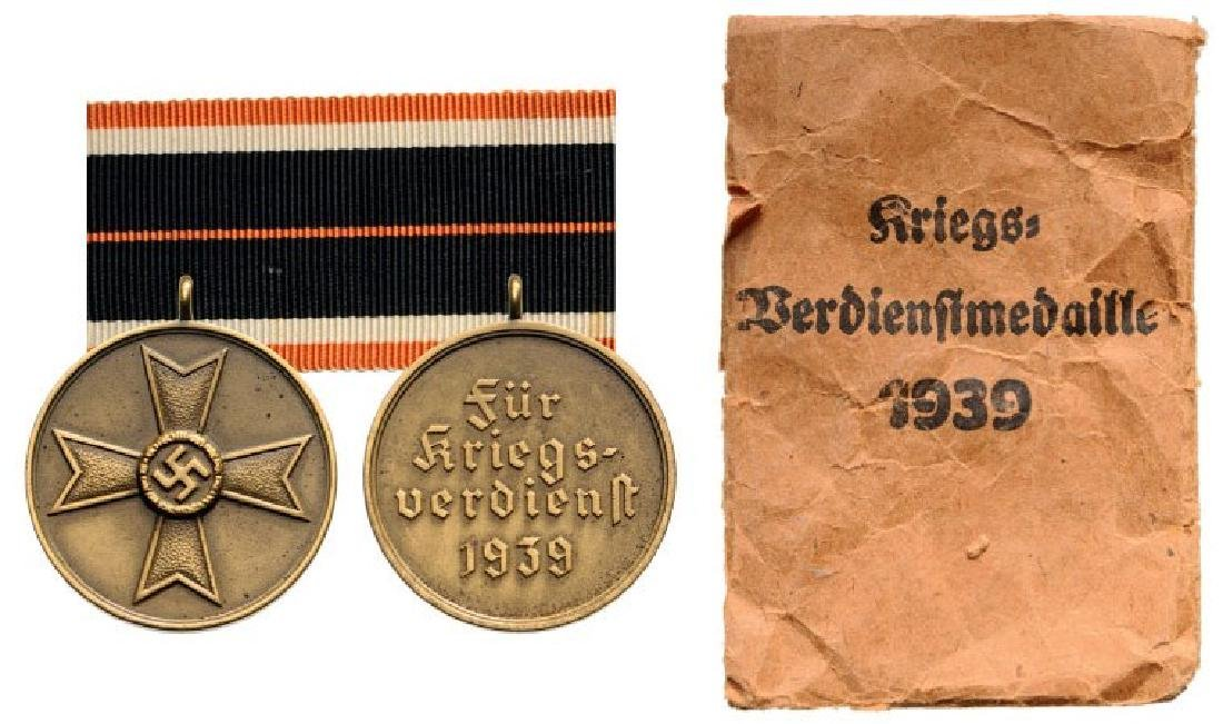War Merit Cross, Bronze Medal, instituted in 1939