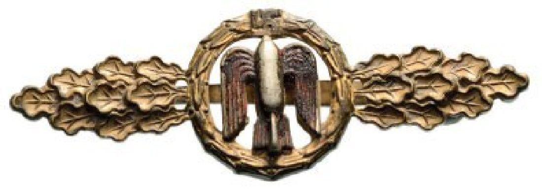 Luftwaffe Front Flying Clasp for Bomber, Gold,