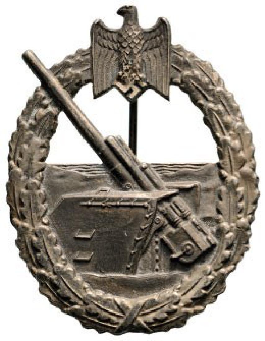 Kriegsmarine Artillery War Badge, instituted in 1941