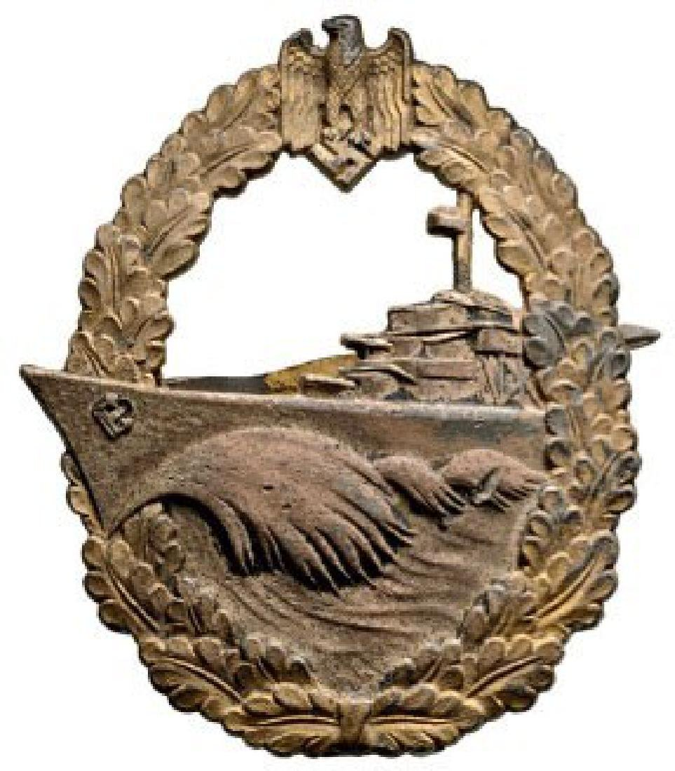 Kriegsmarine Destroyer War Badge, instituted in 1940