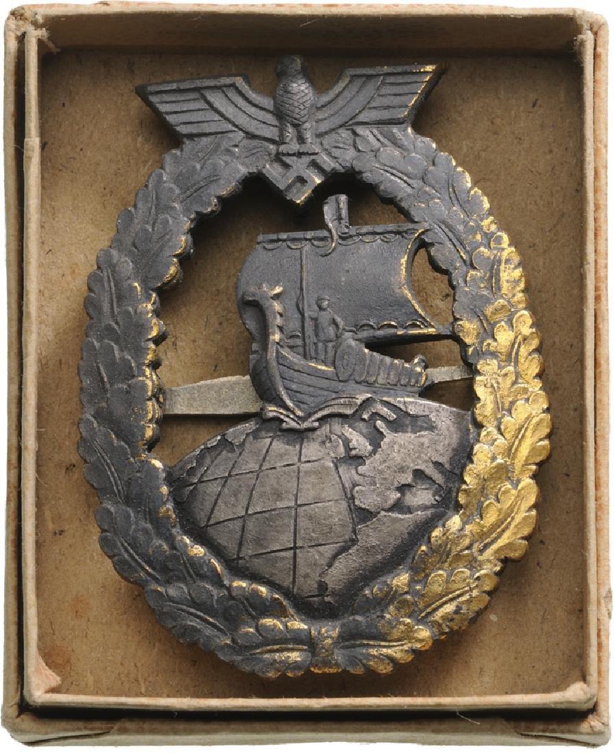 Kriegsmarine Auxiliary Cruiser War Badge, instituted in