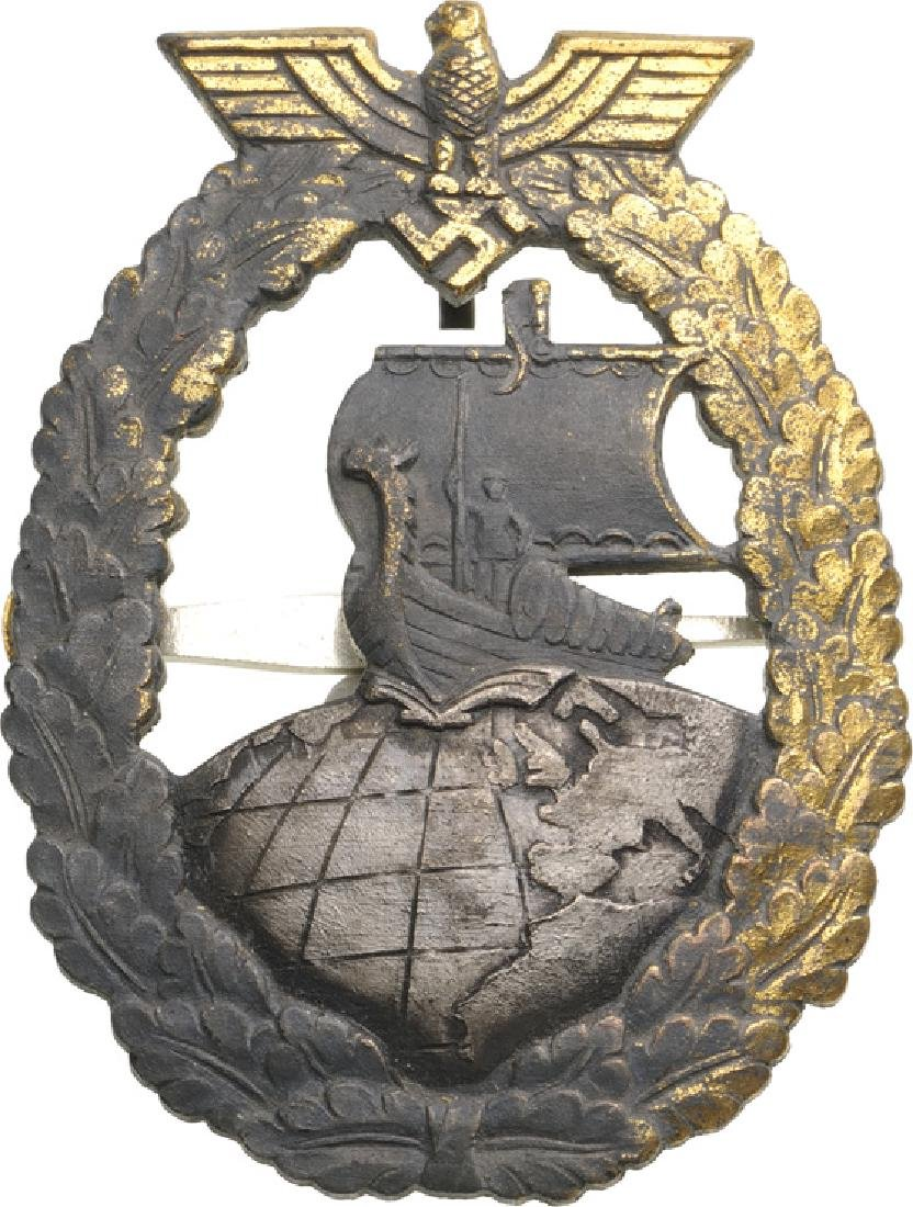 Kriegsmarine Auxiliary Cruiser War Badge, instituted in - 2