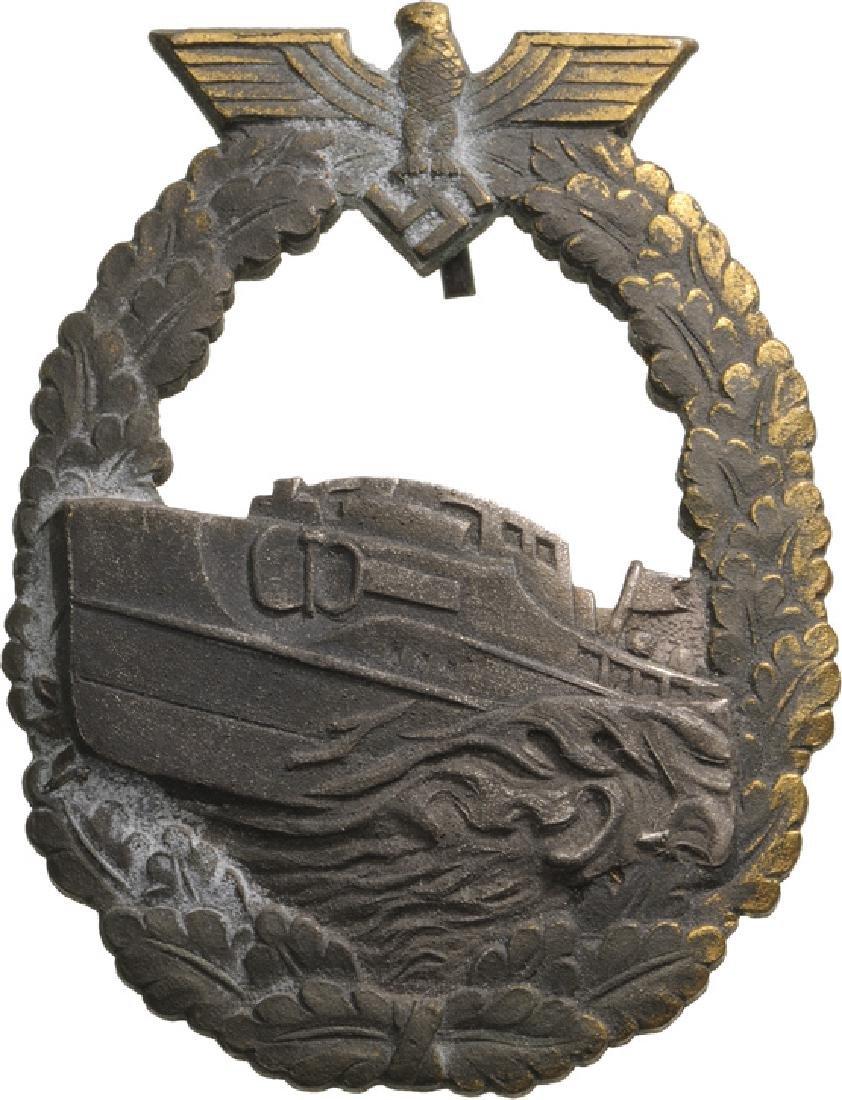 Kriegsmarine Schnellboot War Badge, Type I, instituted