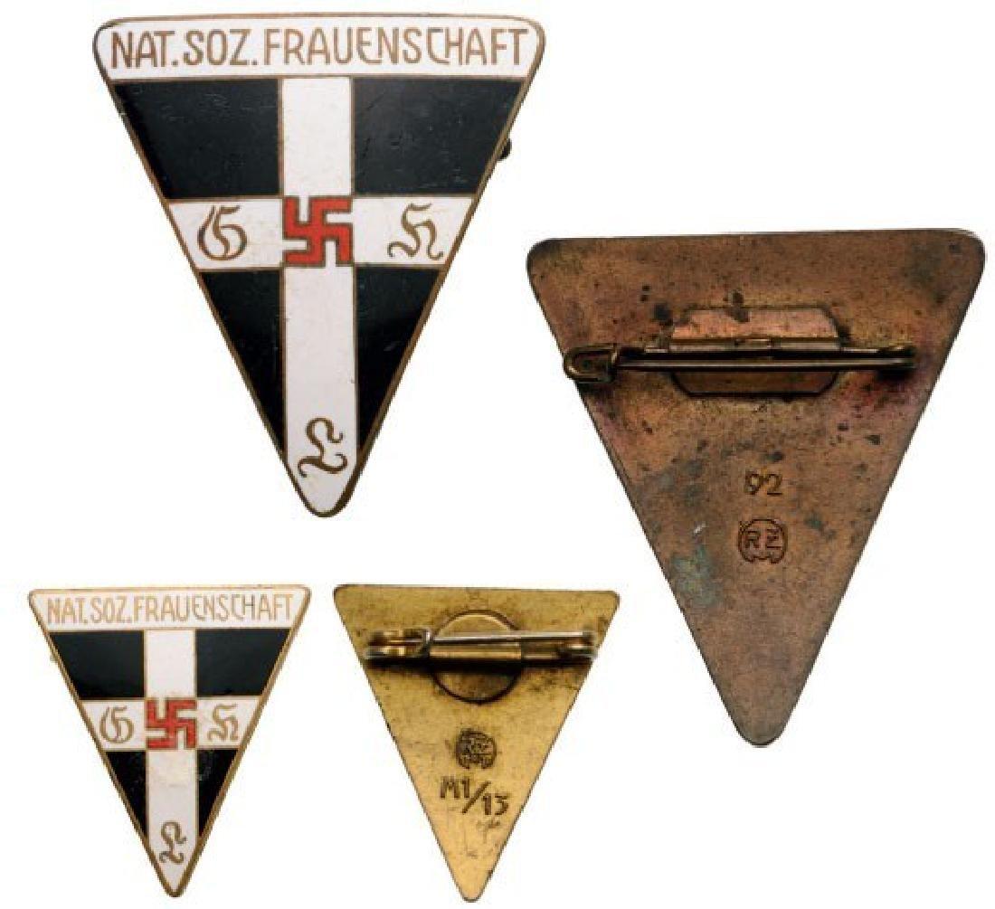 Nationalsozialistische Frauenschaft Member Badge, Large