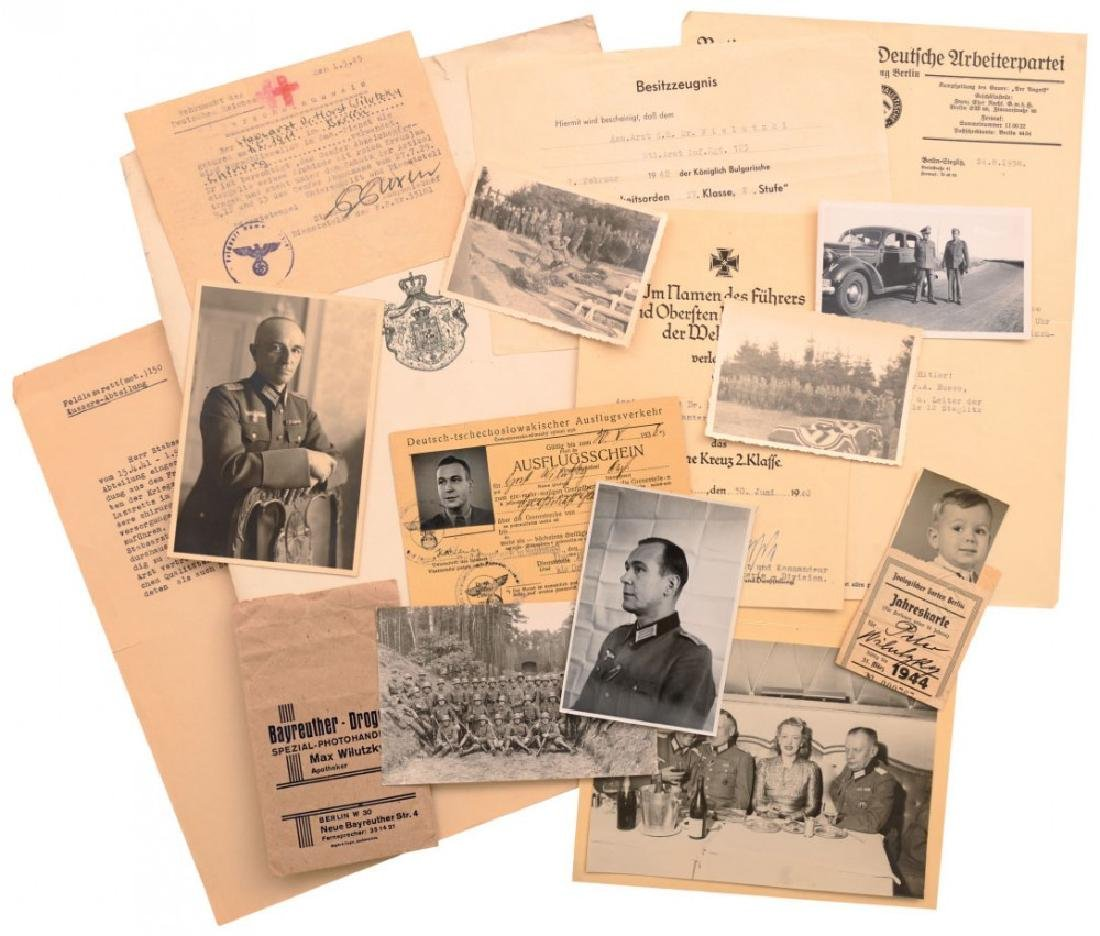 Lot of 36 Documents 3rd Reich awarded to an Austrian