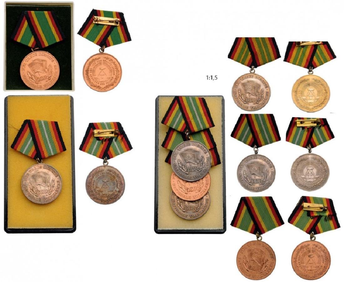 Lot of 5 Medals for Long Service in the National