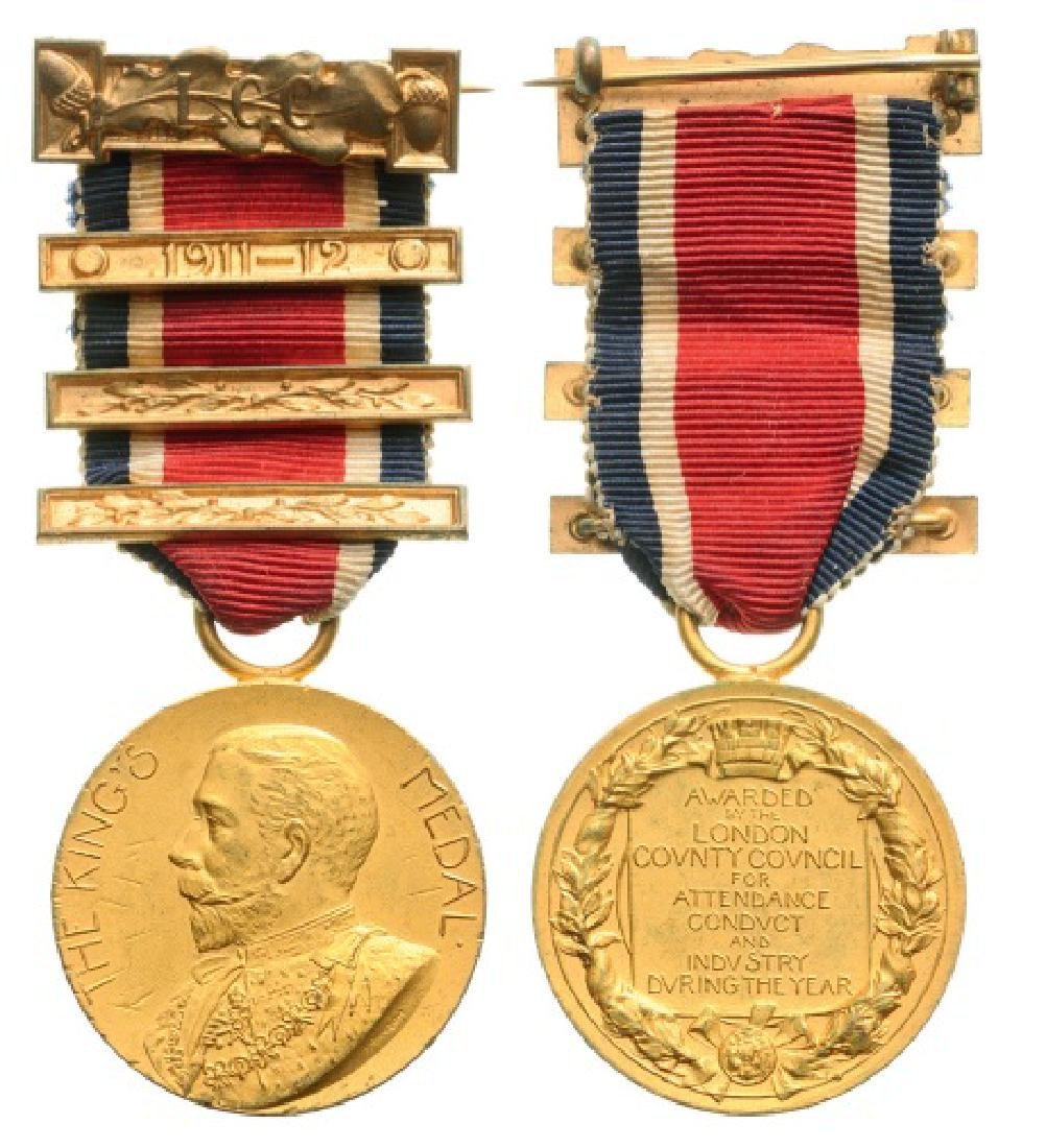 London County Council King's Medal for Attendance