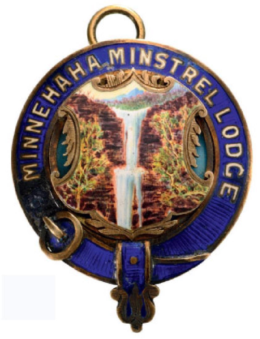 MINNEHAHA MINSTREL LODGE MEDAL - 2