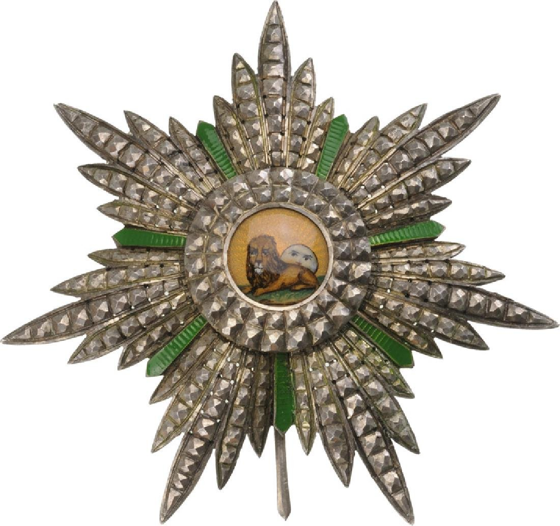 ORDER OF HOMAYOUN (SUN AND LION)