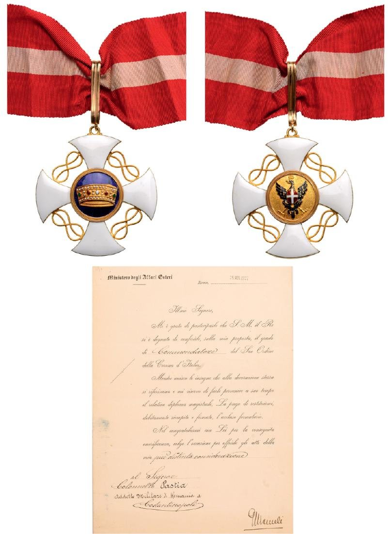 ORDER OF THE CROWN OF ITALY