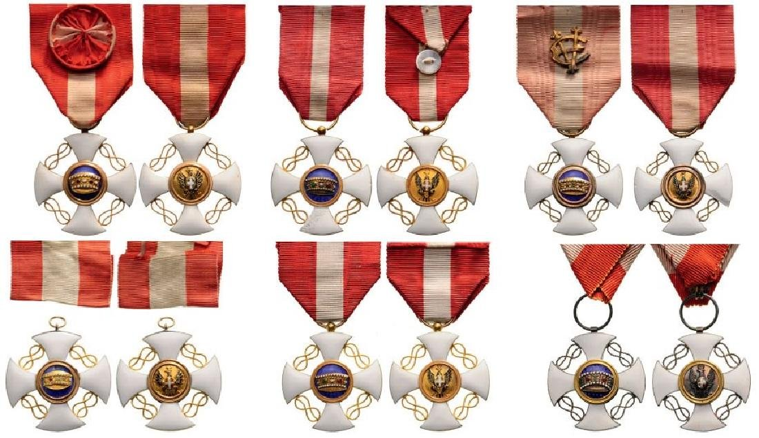Lot of 6 ORDER OF THE CROWN OF ITALY