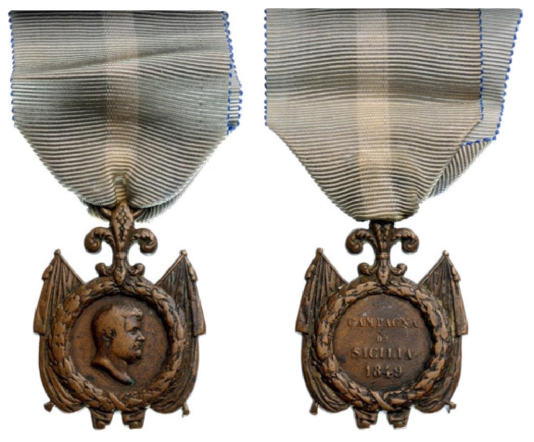 Medal of the Sicilia Campaign, 1849