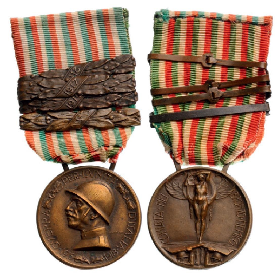 For the Unity of Italy 1915-18 Medal with 4 clasps