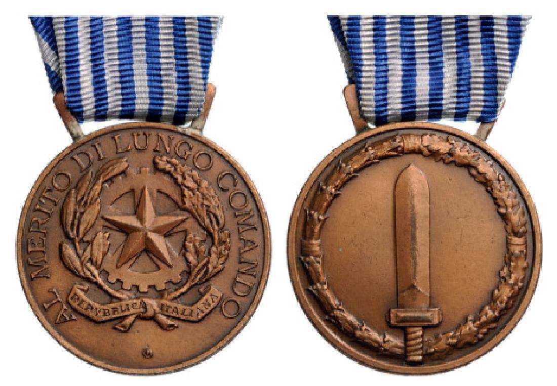 Italian Republic Army Long Command Medal of Merit