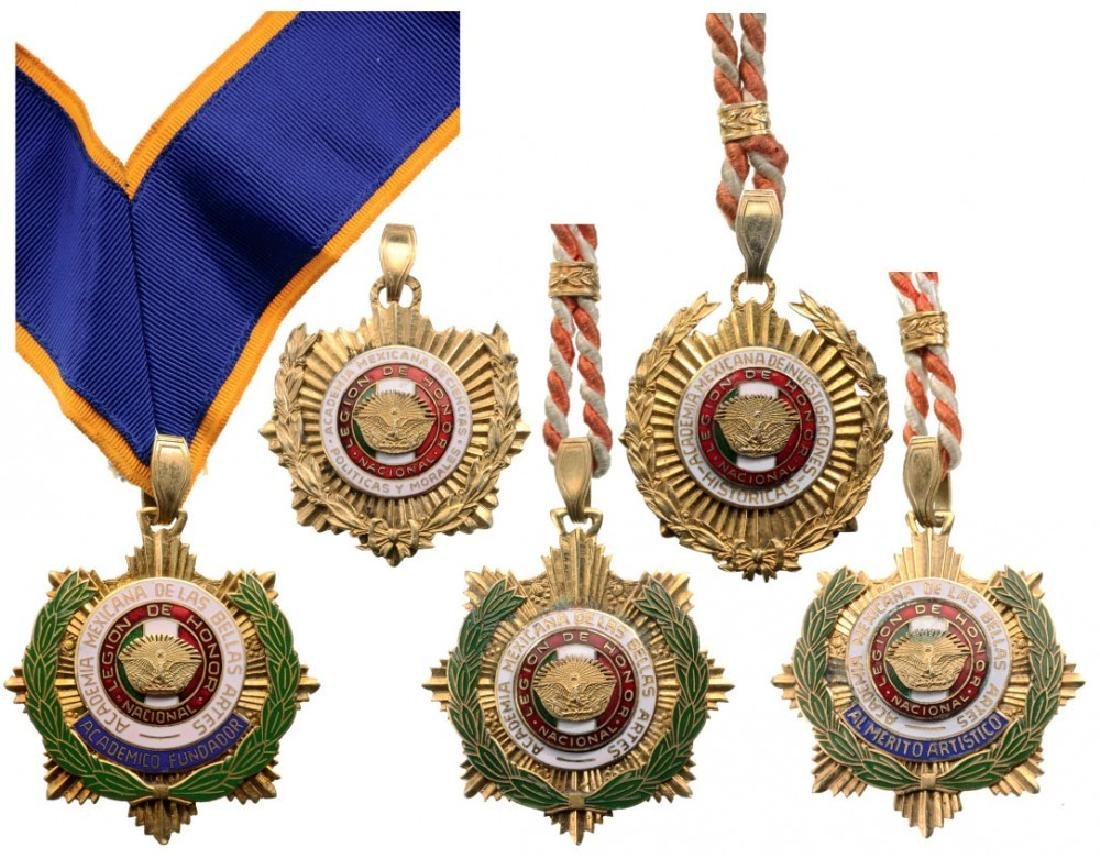 Lot of 5 NATIONAL LEGION OF HONOR DECORATIONS
