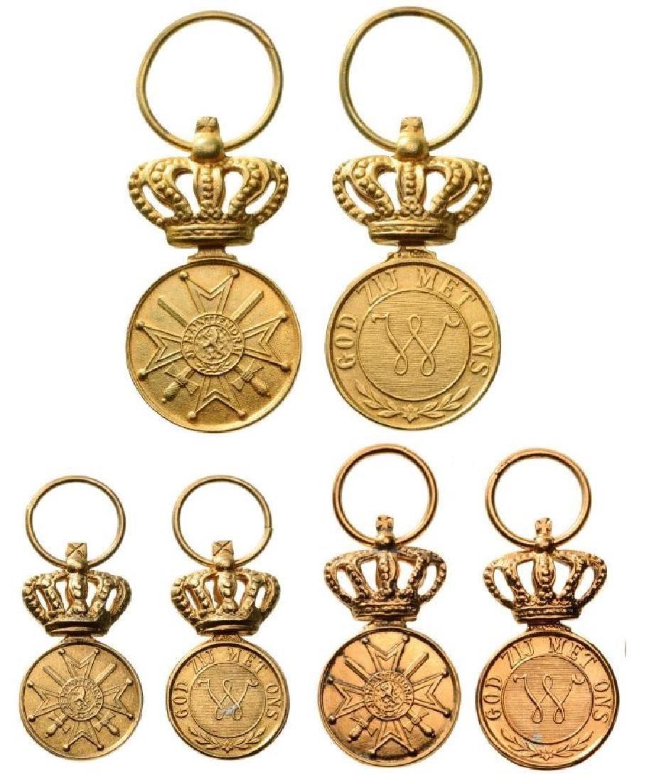 Lot of 3 MEDAL OF THE ORDER OF ORANGE NASSAU