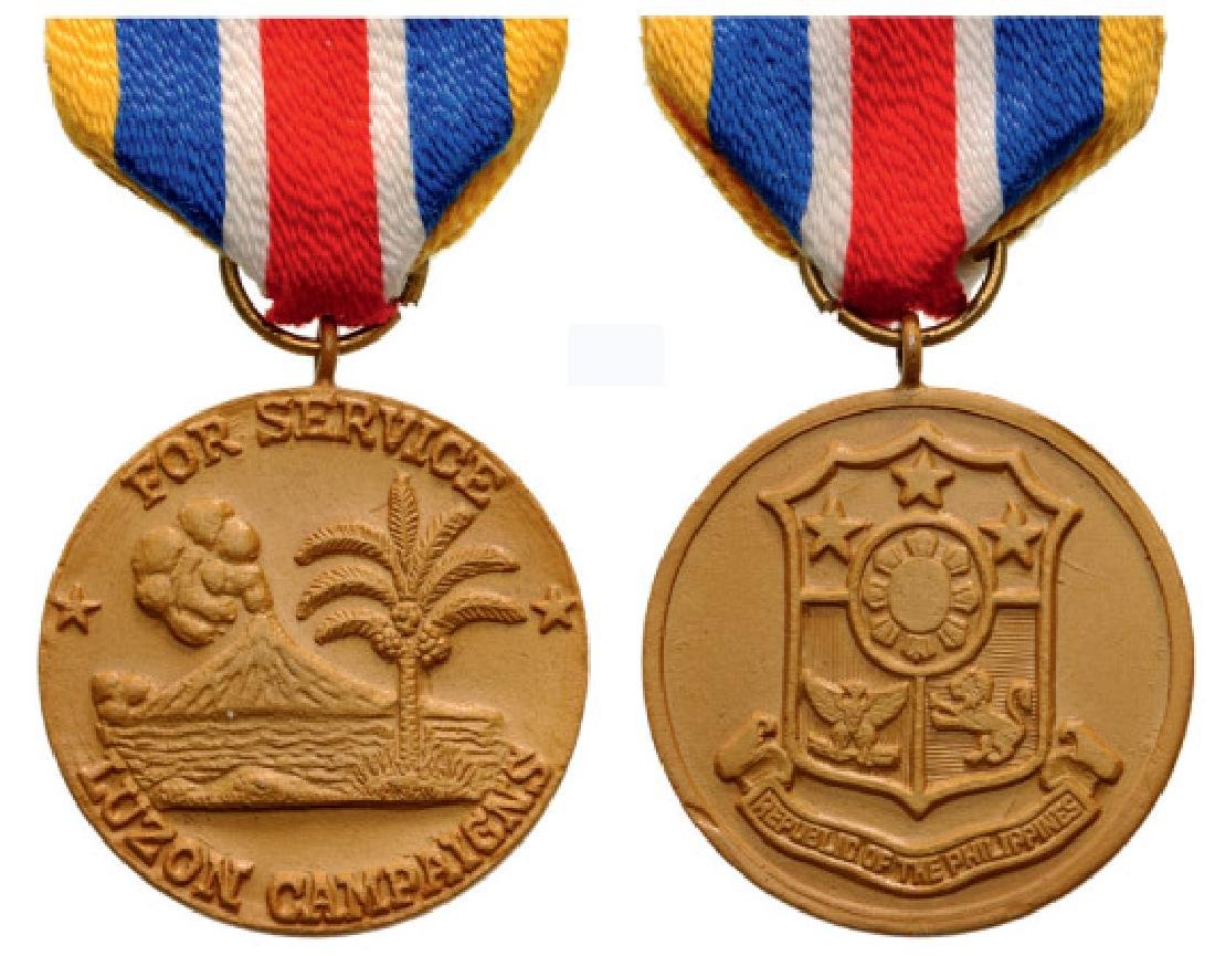 LUZON CAMPAIGNS MEDAL, INSTITUTED IN 1948