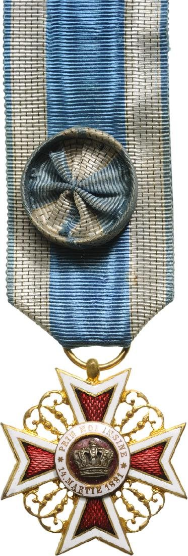 ORDER OF THE CROWN OF ROMANIA, 1885