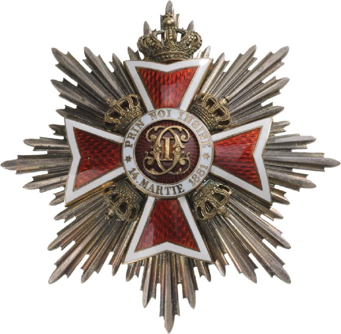 ORDER OF THE CROWN OF ROMANIA, 1881 - 5