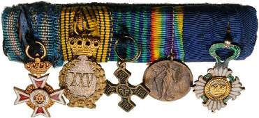 Bar of Miniature Orders 2 and Medals 3