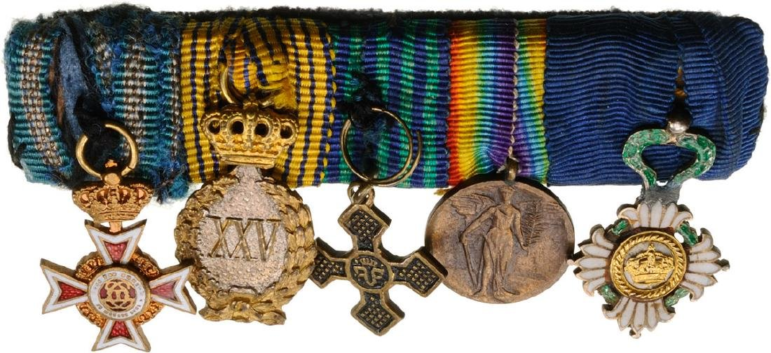 Bar of Miniature Orders (2) and Medals (3)