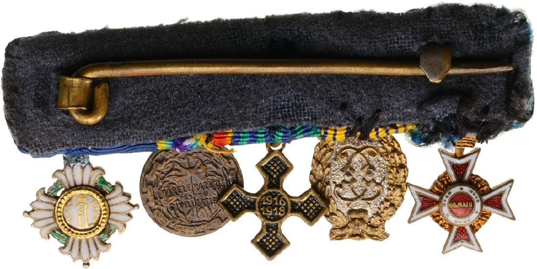 Bar of Miniature Orders (2) and Medals (3) - 2