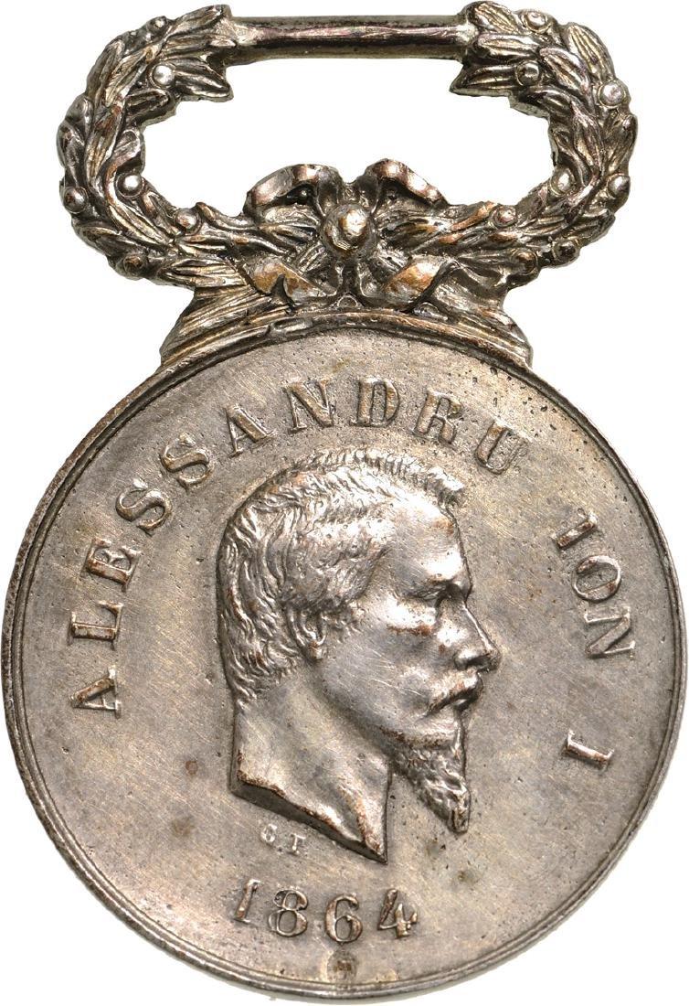 Cuza - Devotamentu si Curajiu Medal 1864