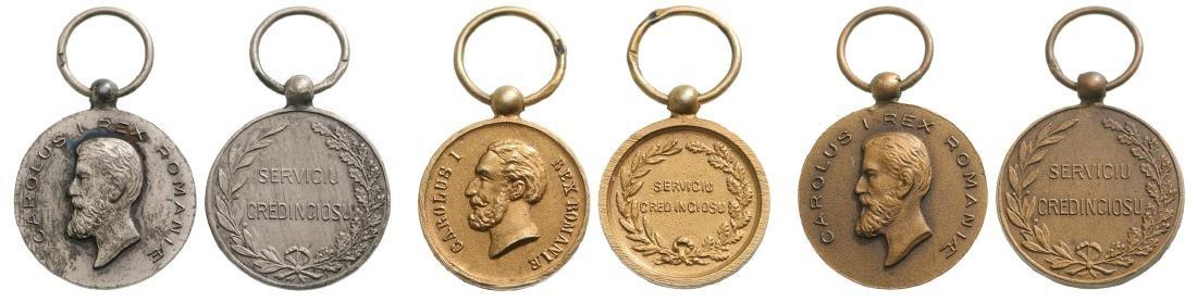 Medal of Faithfull Service, 1st Type, Civil, Set 1st