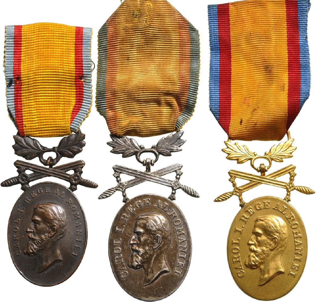 Manhood and Loyalty Medal, Military, Set 1-3 Classes,