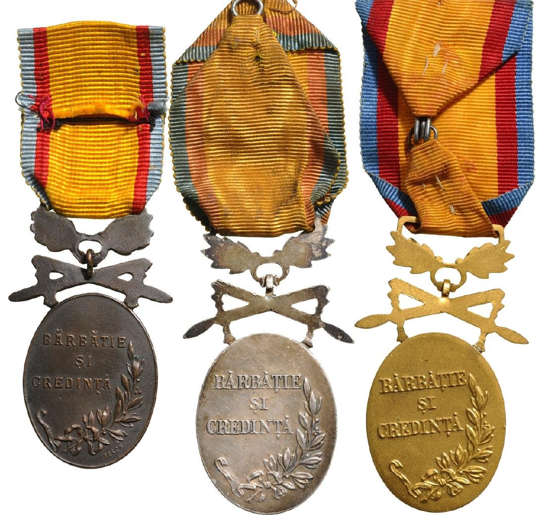 Manhood and Loyalty Medal, Military, Set 1-3 Classes, - 2