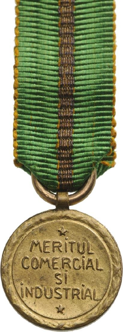 The Commercial and Industrial Merit Medal Miniature, - 2