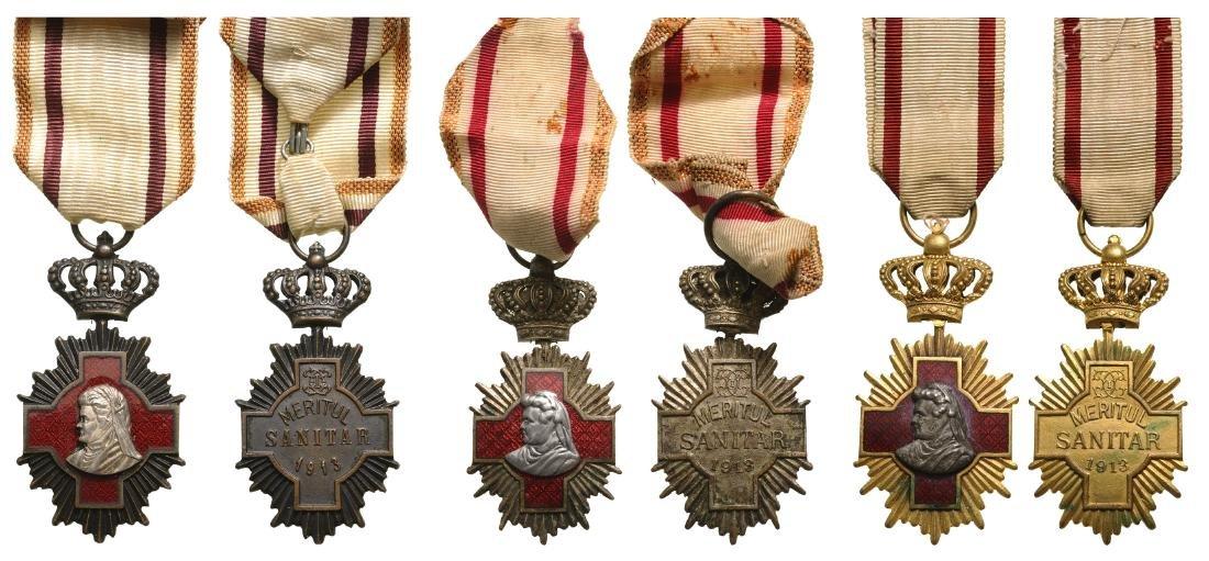 Sanitary Merit Medal, Set 1-3 Classes, instituted on