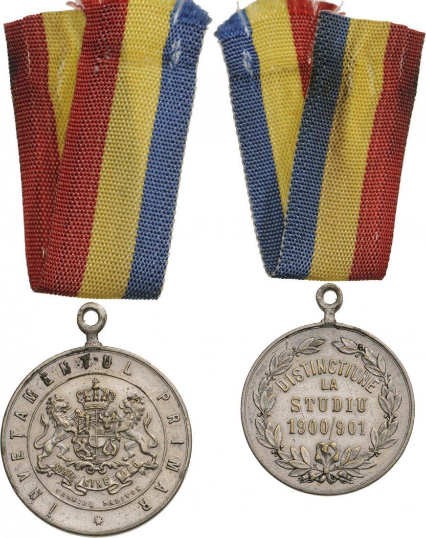 Carol I - School Prize Medal 1900/01