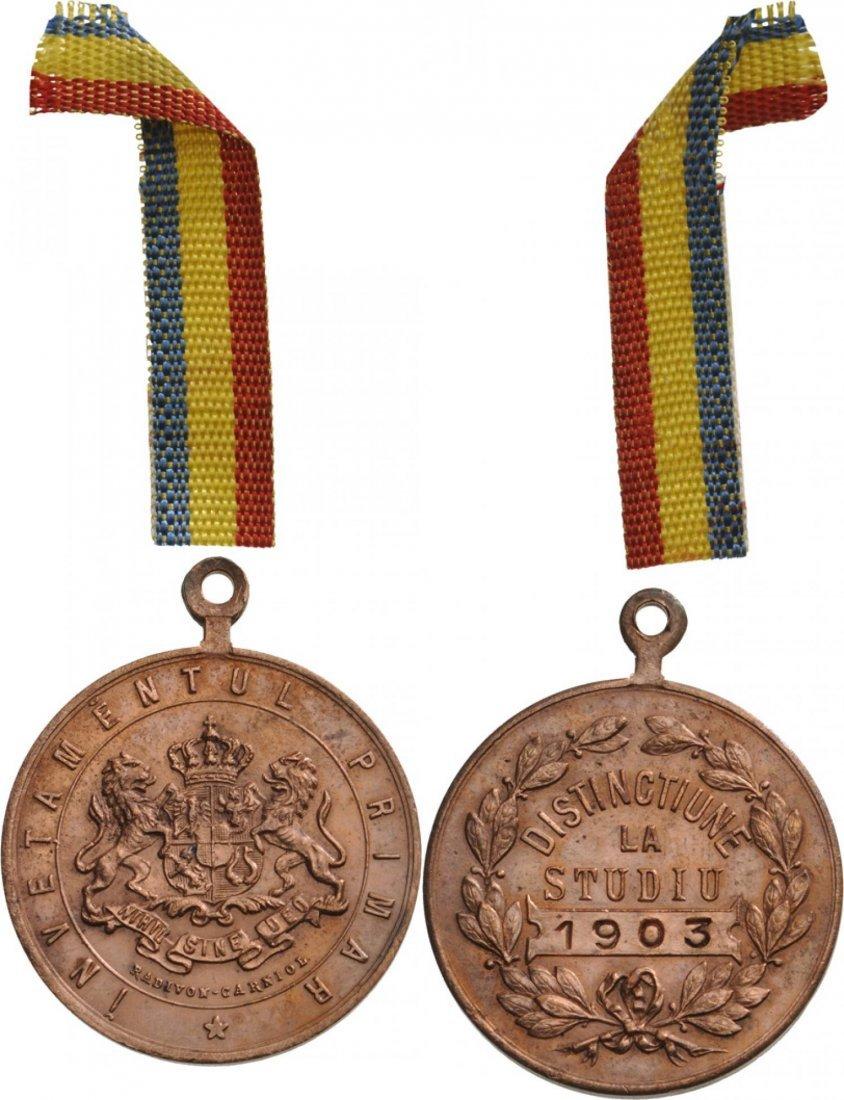 Carol I - School Prize Medal 1903