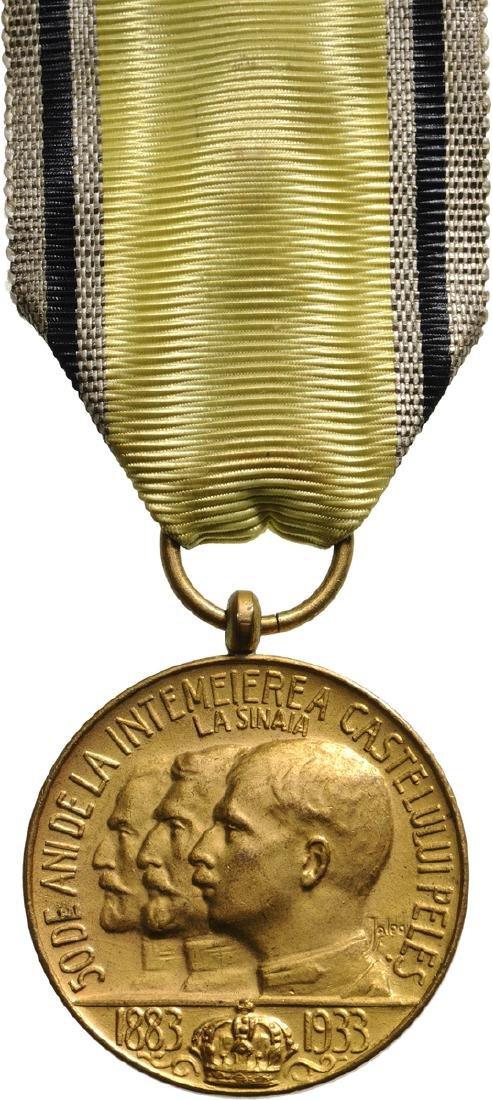 Medal of Peles Castle, 1933
