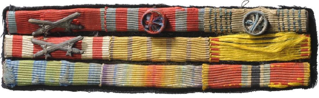 Group of 9 Ribbon Bars of a high rankink officer of the