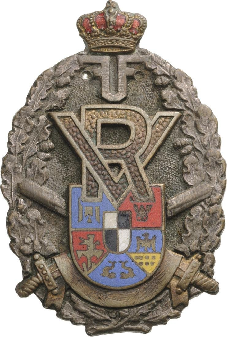 """Volunteers"" badge from WW I (1916-1919), Ferdinand I"