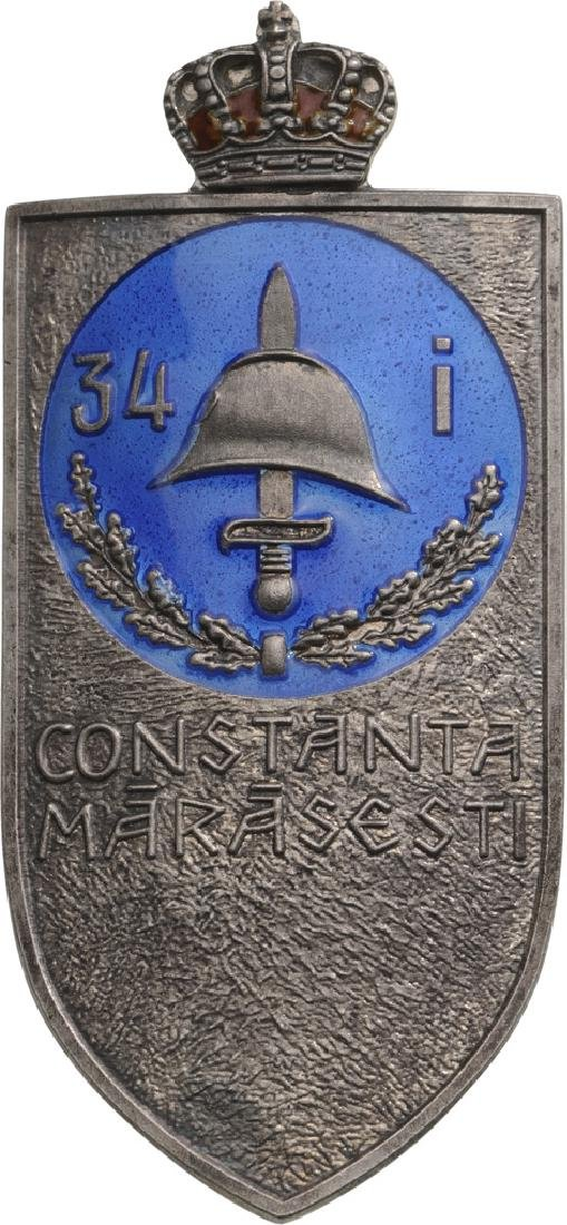 "Regimental Badge ""34th Infantry Regiment"" Constanta"