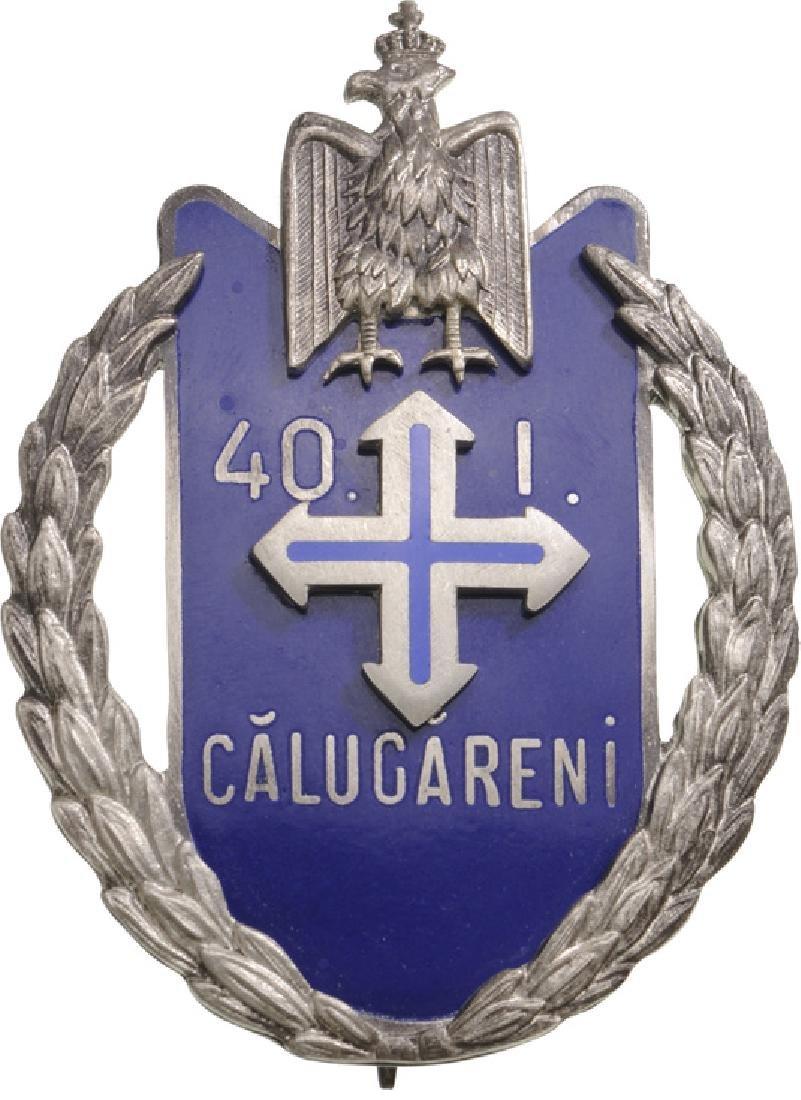 "Regimental Badge ""40th Infantry Regiment"" Calugareni"